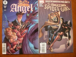 2 Comic: BUFFY THE VAMPIRE SLAYER ANGEL #3 & Marvel THE AMAZING SPIDER-GIRL #6