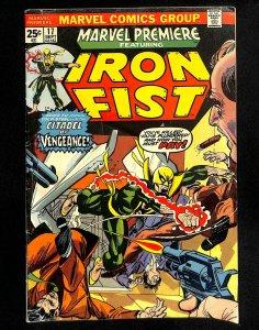 Marvel Premiere #17 3rd Iron Fist!