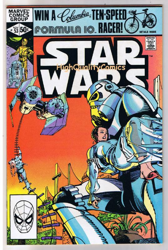 STAR WARS #53, NM-, Luke Skywalker, Darth Vader, 1977, more SW in store