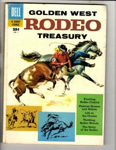 Golden West Rodeo Treasury # 1 VG/FN Dell Giant Comic Book Western Cowboy JL18