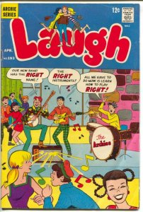Laugh #193 1967-Archie-The Archies band cover-Betty & Veronica-VG