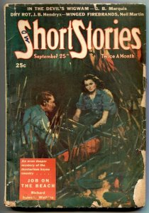 Short Stories Pulp 9/25/44- Job On the Beach G/VG