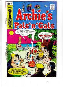 Archie's Pals 'n' Gals #71 (Aug-72) VF- High-Grade Archie, Betty, Veronica, R...