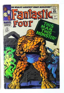 Fantastic Four (1961 series) #51, VG (Actual scan)