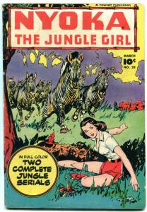Nyoka The Jungle Girl #29 -Zebra cover-Fawcett Golden Age VG