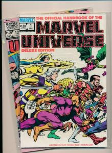LOT OF 2-MARVEL UNIVERSE Deluxe Edition #1 & Handbook V-Z #12 VF (PF744)