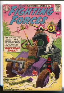 OUR FIGHTING FORCES #80-1963-DC-WWII-POOCH-GUNNER & SARGE-ZERO'S-vf minus