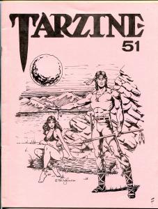 Tarzine #51 1986-Fanzine for collectors of Tarzan and ERB memorabilia-VF