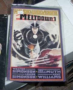 HAVOC & WOLVERINE - MELTDOWN #  1 & 2  GRAPHIC NOVELS MARVEL 1988 SIMONSON