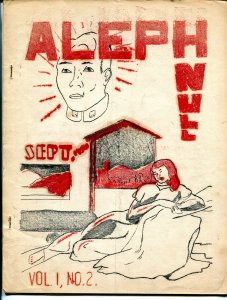 Aleph Null #2 1950-sci-fi fanzine-pulps-Strange Stories-Uncanny Tales-VG