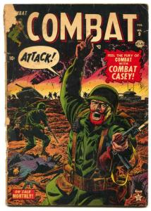 Combat #9 1953- COMBAT CASEY- Atlas reading copy