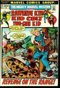 MIGHTY MARVEL WESTERN #19-RAWHIDE KID/KID COLT VG/FN