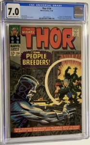 Thor #134 (1966) CGC Graded 7.0 First appearance of High Evolutionary