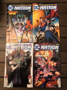 DC NATION #0 + 1:100 1:250 1:500 VARIANT COVER SET OF 4!  BATMAN WEDDING! JLA!