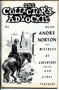 Collector's Advocate #1 8/1965-Andre Norton-Arkham House-Weird Tales-FN-