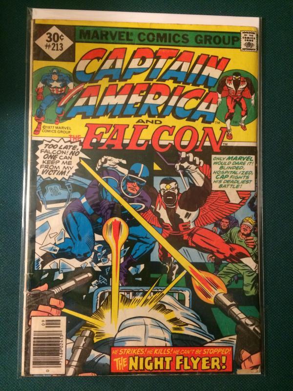 Captain America #213 and Falcon