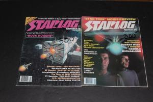 STARLOG Magazine #16 & #30 Star Trek, Buck Rogers Spock Nimoy Kirk Etc. (HX950)