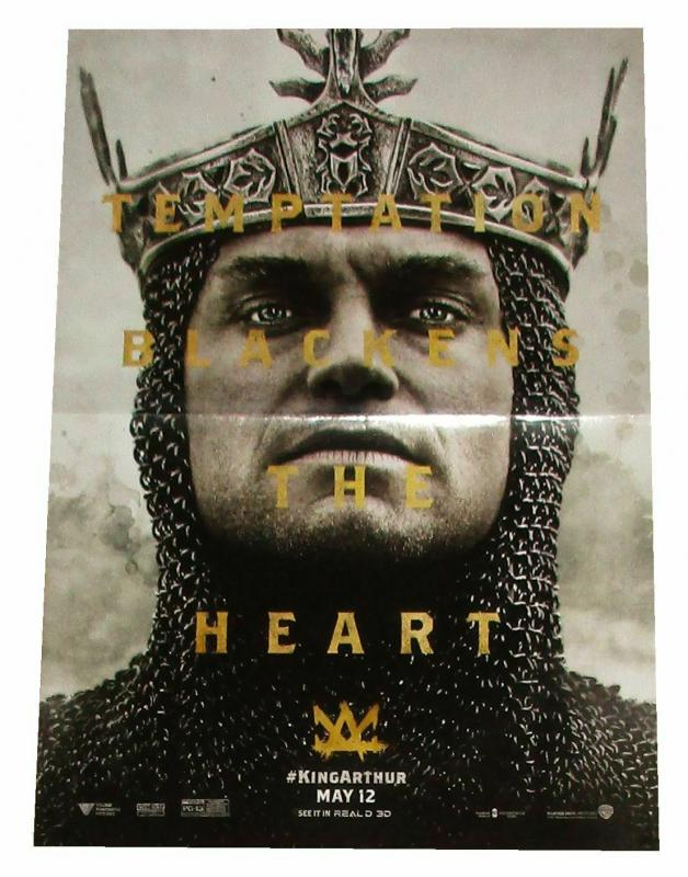 King Arthur Movie Jude Law Folded Promo Poster 11.5 x 17 (2017) - New!