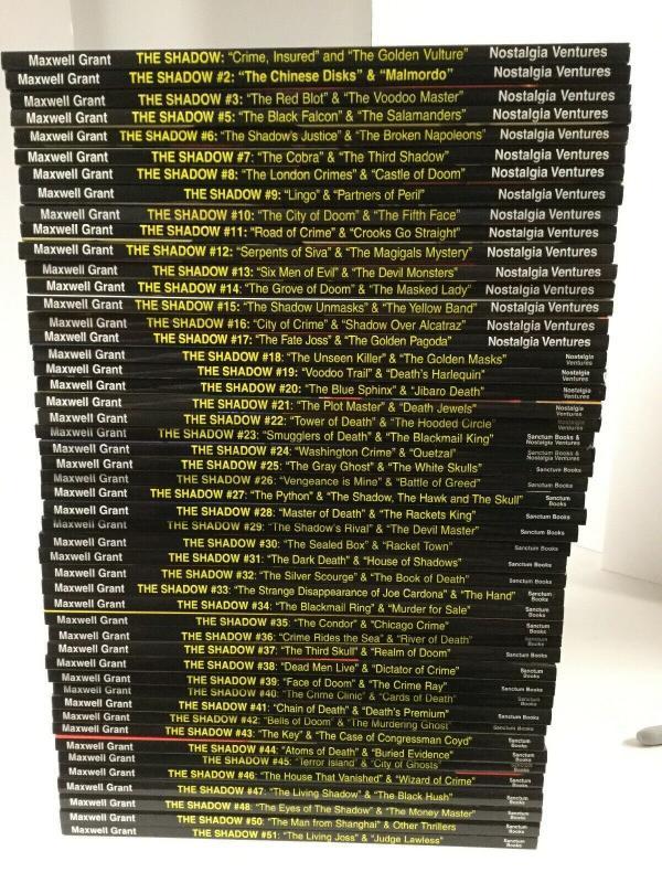 The Shadow Nostalgia Ventures Sanctum Books 1-51 Pulp Reprint Lot Near Mint P12