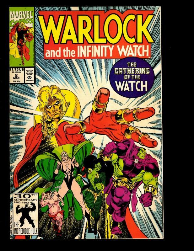 12 Warlock And The Infinity Watch Comics # 1 2 8 9 10 12 13 14 16 17 19 20 EK10