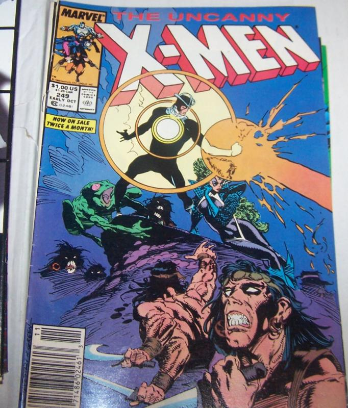 Uncanny X-Men #249 1989 MARVEL havoc polaris  wolverine MAGNETO