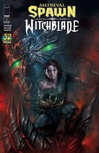 Medieval Spawn & Witchblade #1 NM, Lucio Parrillo Varian LOW PRINT