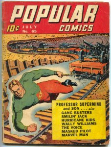 Popular Comics #66 1941- Professor Supermind- Marvel Man G/VG