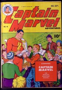 CAPTAIN MARVEL ADVENTURES #48-FAWCETT-RARE VG/FN