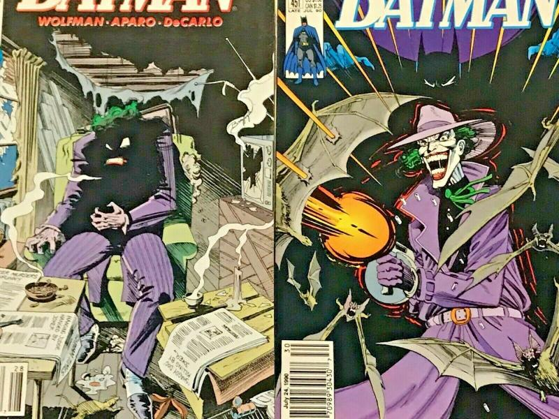 BATMAN#441-478 VF/NM LOT 1991 (10 BOOKS) ALL NEWSTAND EDITION DC COMICS