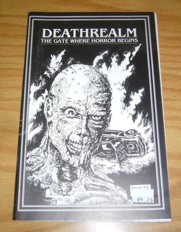 DeathRealm #5 FN the gate where horror beings  ashcan size 1988 rare kaiju press
