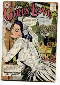 GIRLS LOVE STORIES #62 1959-ROMANCE-SCARED BRIDE COVER G/VG
