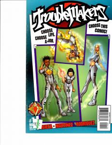 Lot Of 2 Comic Books Acclaim Troublemakers #1 and Comico ESC Escape #1  ON3