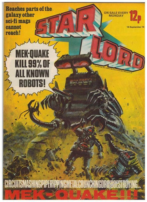 STAR LORD (BRITISH WEEKLY) 19 ( 9/16/78) VF-NM