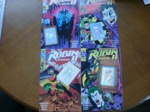 4 DC Comics ROBIN 2 (The Joker's Wild) Comic #1 #2 #3 #4 (1991) Hologram Foil