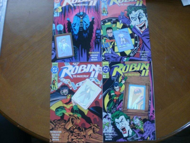 4 DC Comics ROBIN 2 (The Joker's Wild) Comic #1 #2 #3 #4 (1991) Hologram Foil