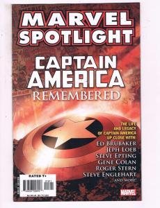 Marvel Spotlight Captain America Remembered #1 VF Marvel Comic Book DE15