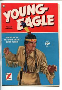 YOUNG EAGLE #1-1950-FAWCETT-INDIAN STORIES-PHOTO COVER-SOUTHERN STATES-fn+