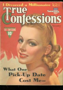 TRUE CONFESSIONS-NOV-1940-TYRONE POWER-LI'L ABNER-PULP  FN/VF