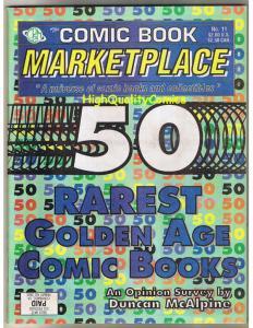 COMIC BOOK MARKETPLACE #11, NM-, the 50th Rare Golden Age comics, 1992