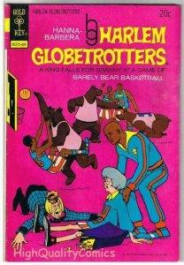 HARLEM GLOBETROTTERS #9, FN+, BasketBall, Gold Key,1972, more GK in store