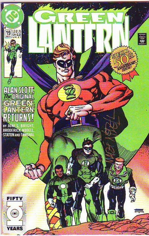 Green Lantern Signed #19 (Dec-91) VF/NM High-Grade Green Lantern, Hal Jordan,...