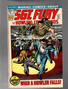 SERGEANT FURY 100 VF PRESENT DAY REUNION STORY
