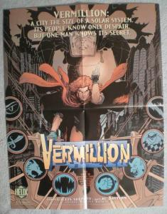 VERMILLION Promo poster, Kaluta, 17x22, 1996, Unused, more Promos in store