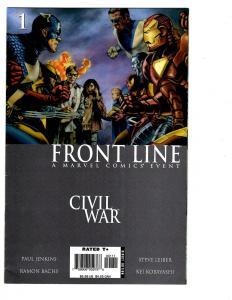 10 Front Line Marvel Comic Books # 1 2 4 5 6 7 8 9 10 11 Civil War Iron Man BH34