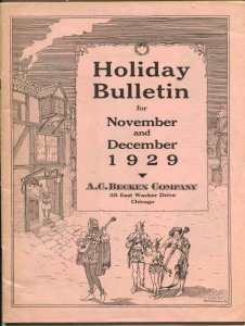 A.C. Becken Sales Catalog Holiday Bulletin 1929-high end watches-luxury items-FN