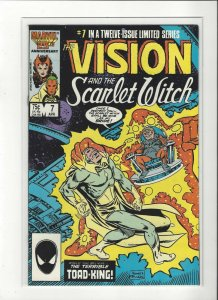 Vision and the Scarlet Witch (1985 series) #7 of 12 Magneto  VF/NM Marvel comics