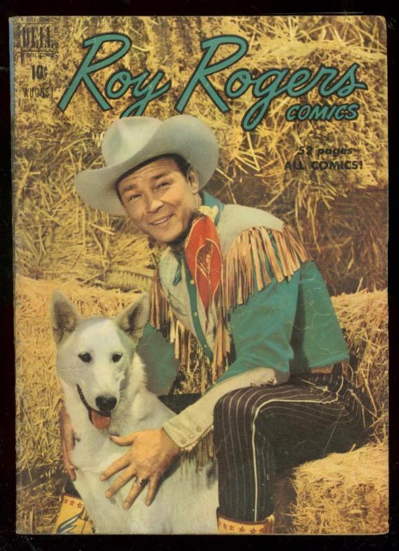 ROY ROGERS #32 1950-DELL COMICS-BULLET-FILM PHOTO COVER FN