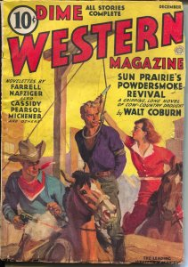 Dime Western 12/1937-Popular-hanging cover-western pulp thrills-VG+