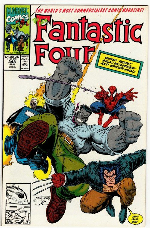 FANTASTIC FOUR #348 (8.5-9.0) Art Adams! No Resv! 1¢ Auction! See More!!!