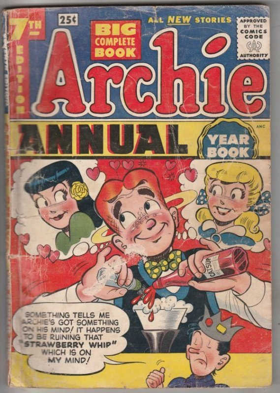 Archie Annual #7 (Nov-55) VG Affordable-Grade Archie, Betty, Veronica, Reggie...